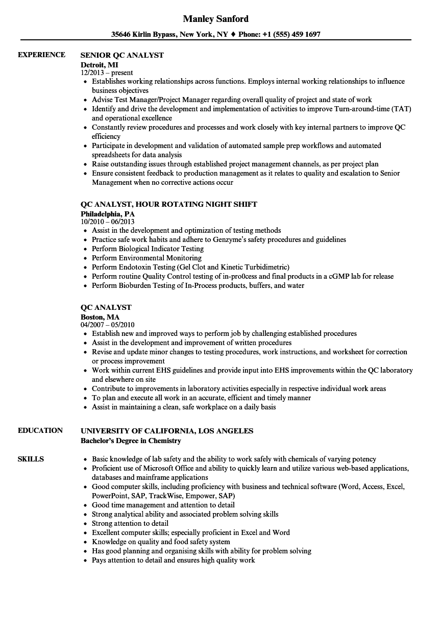 relevant experience sample resume