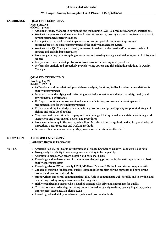 scale technician resume sample