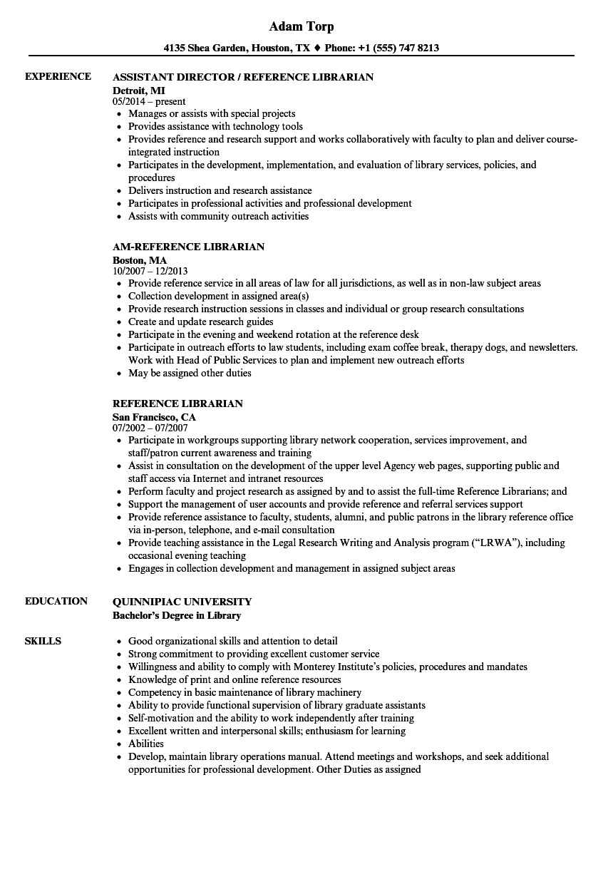 library science resume examples