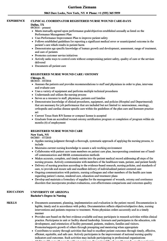 sample resume for wound care nurse practitioner