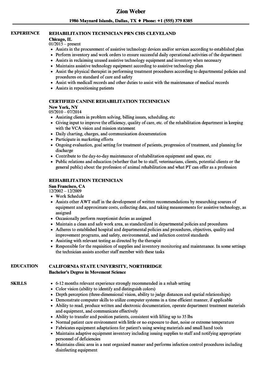 technician resume sample no experience