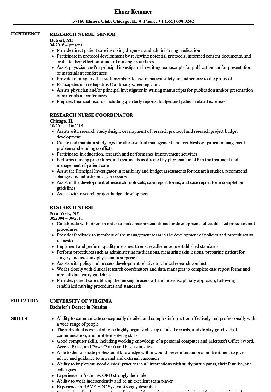 sample of resume for nurses