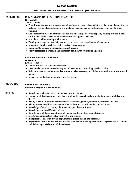 education description resume examples
