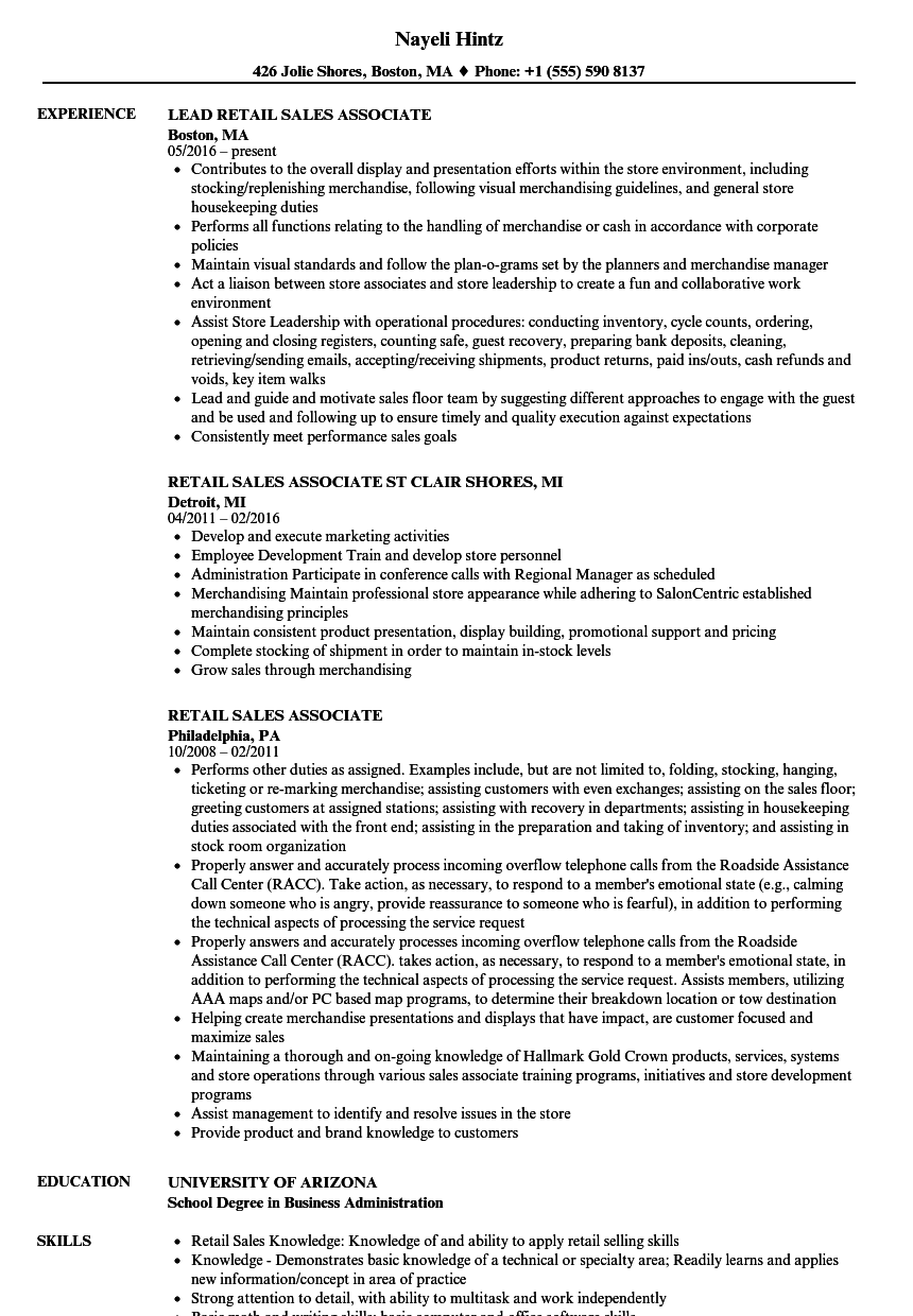 beauty rep resume examples