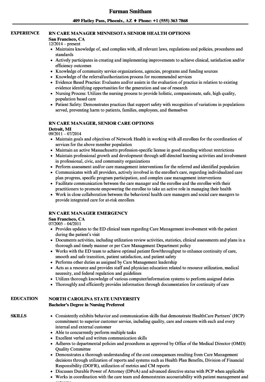 care coordinator resume samples