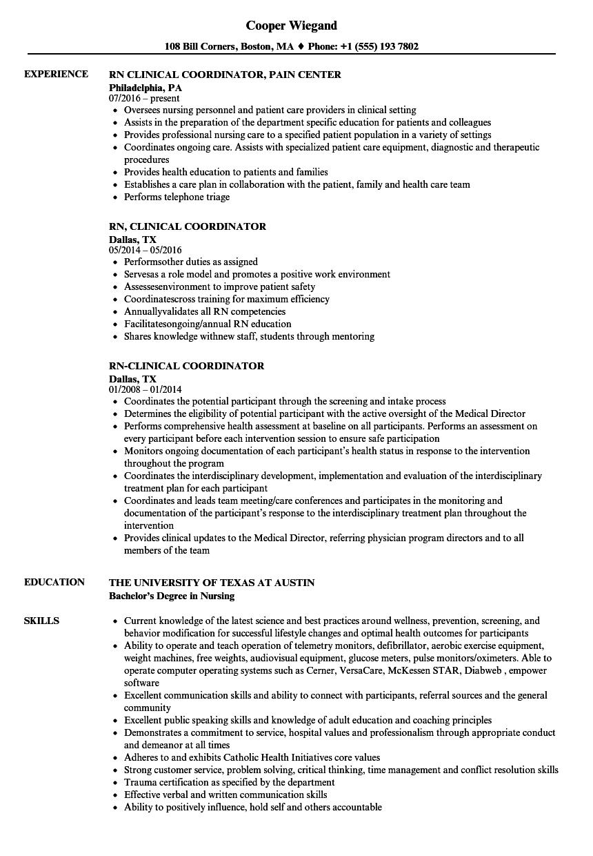 health care coordinator resume sample