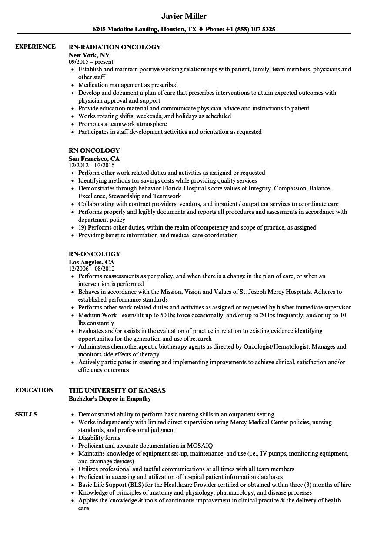 rn resume examples of duties