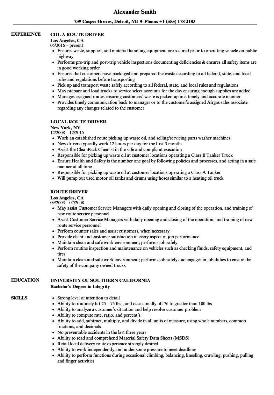 driver helper resume sample