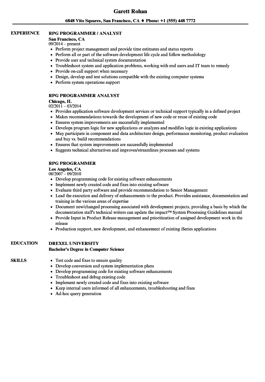 video game programmer resume sample