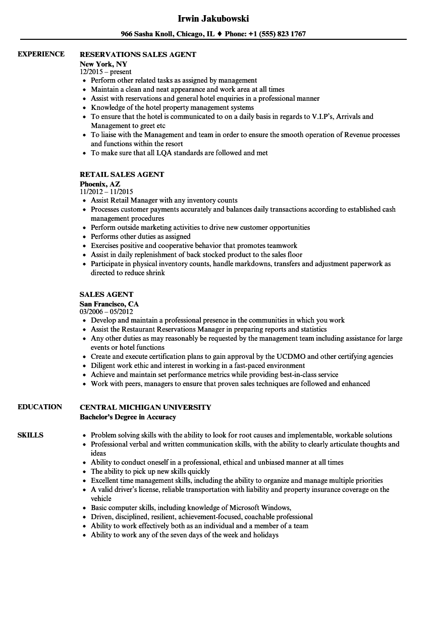 resume examples for jobs sales