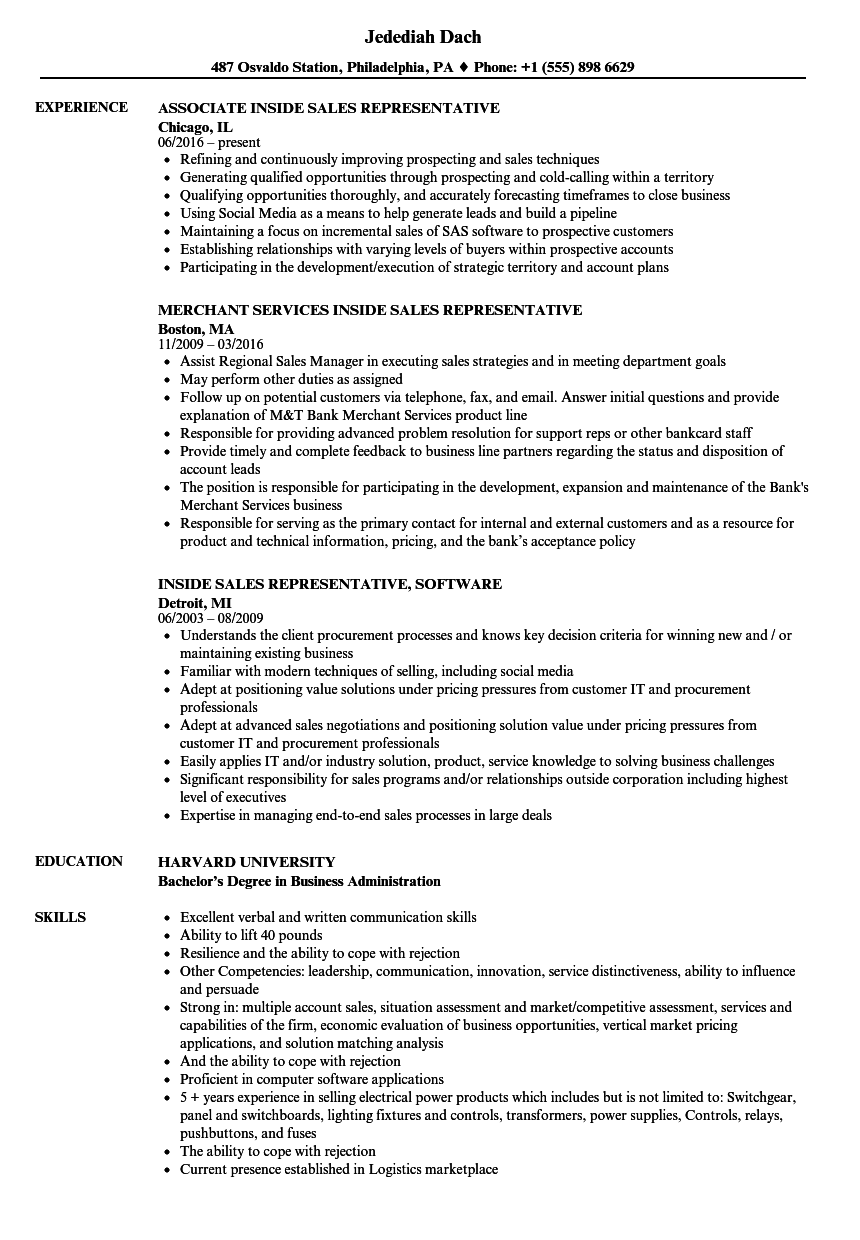 resume examples for customer service sales