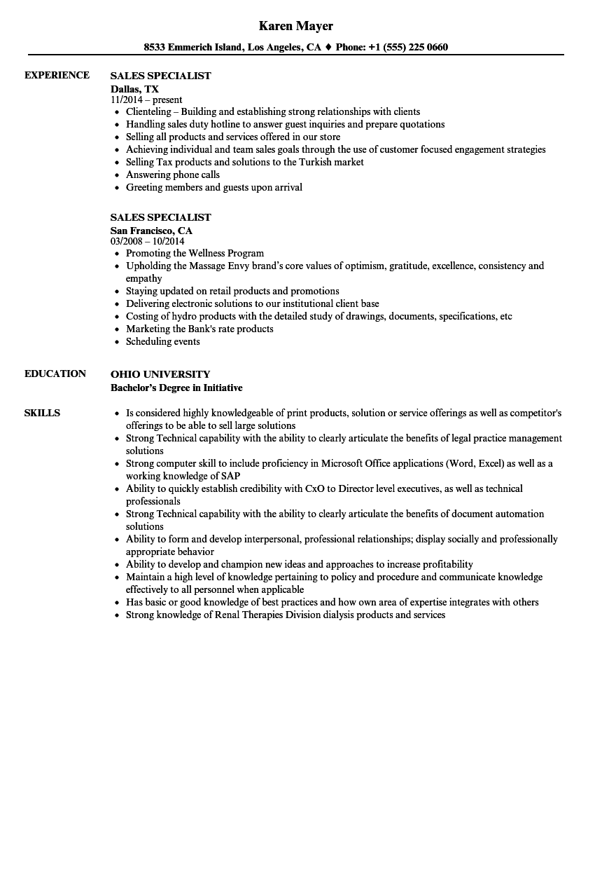 electronic store resume sample