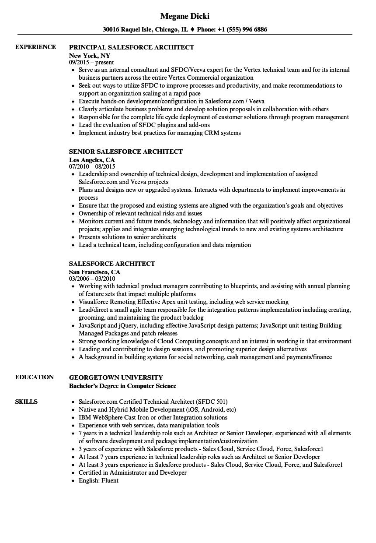 sample salesforce resume