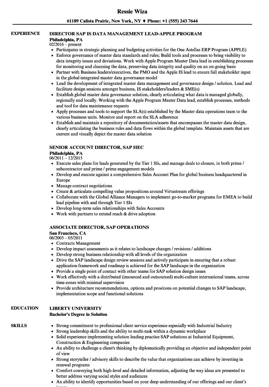 resume sample sap fico