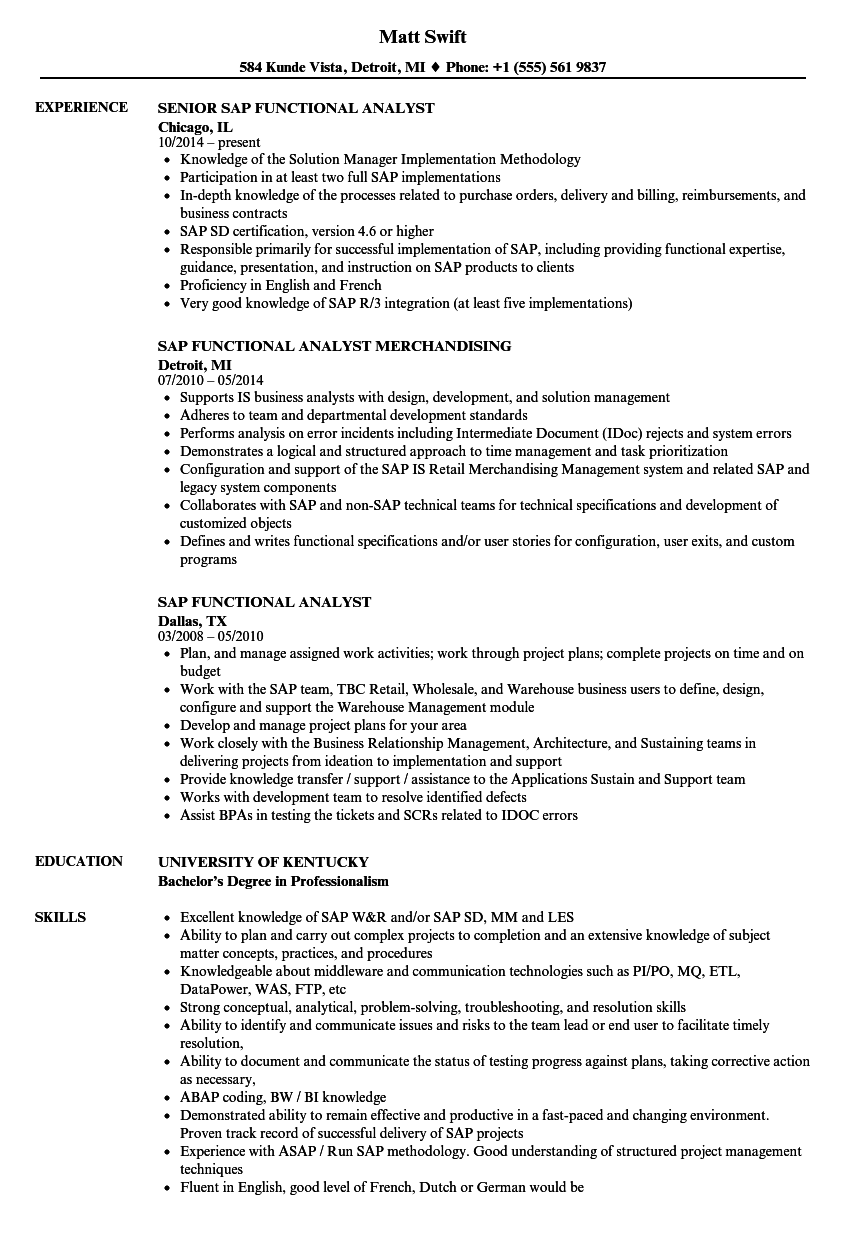 image analyst resume sample