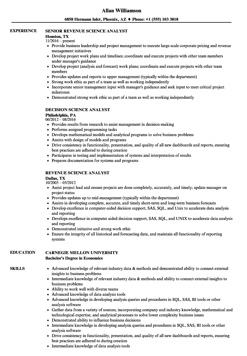 health actuarial analyst resume samples