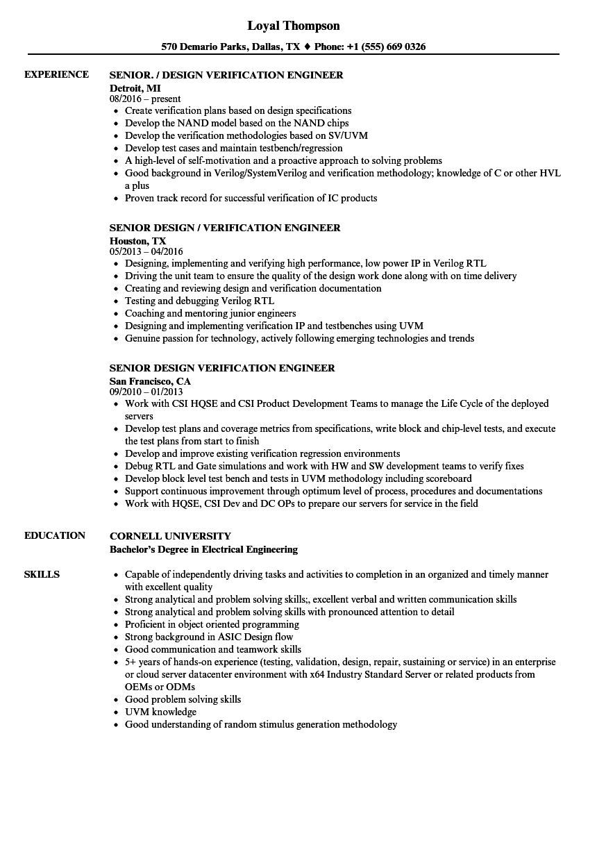 cv of a senior design architecrt