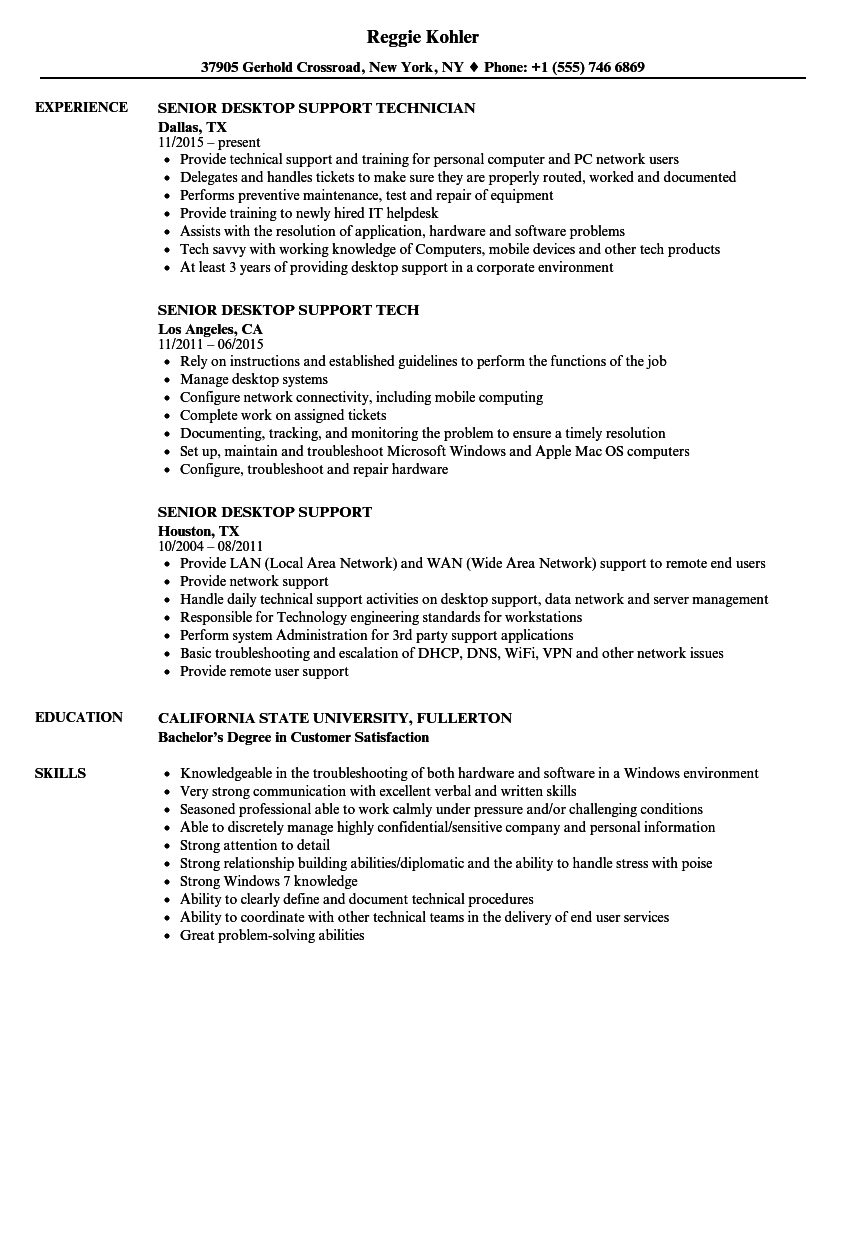 sample resume for l2 support engineer