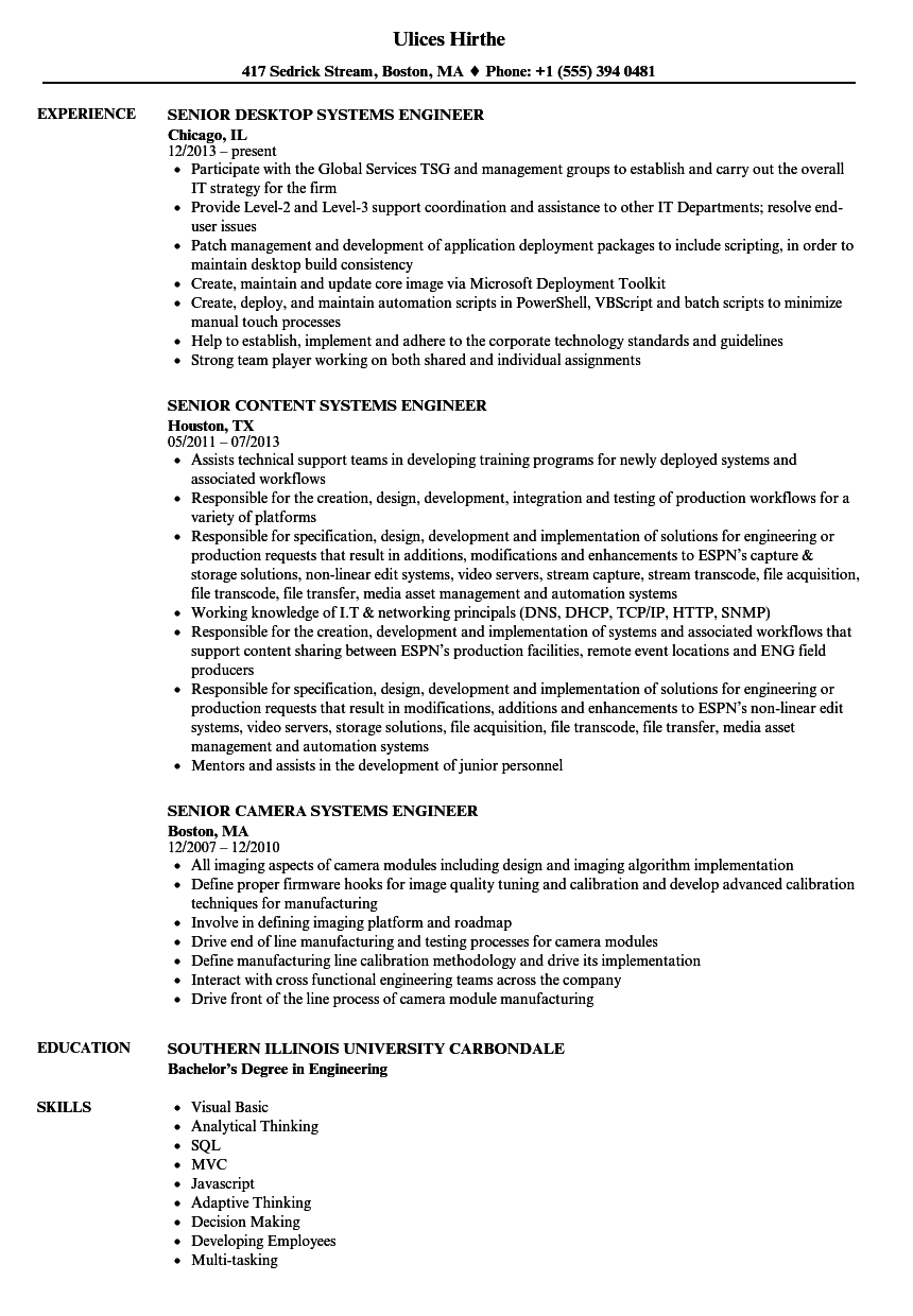 sample of cellular engineer resume