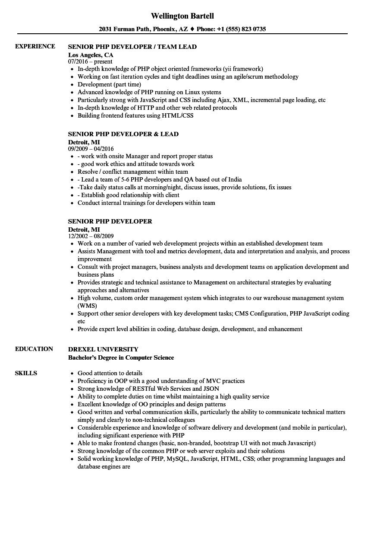 sample resume for ios developer fresher