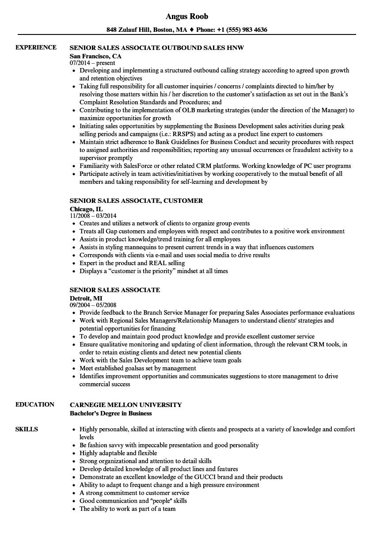furniture sale resume sample