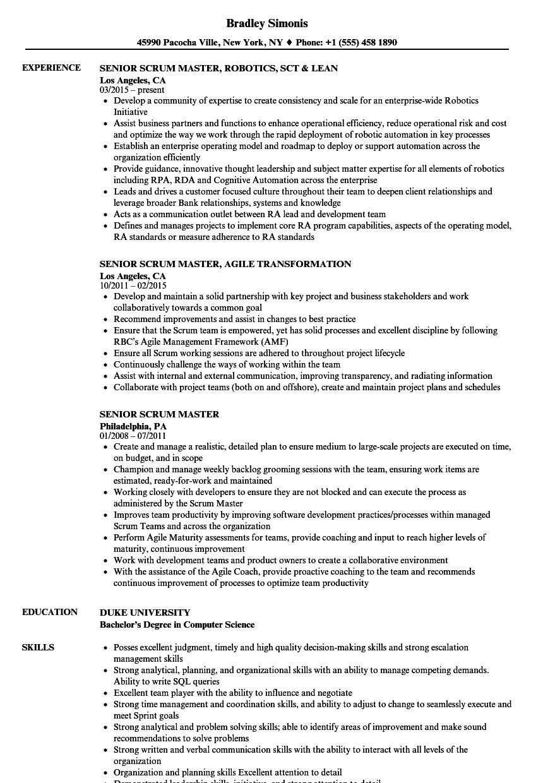agile coach resume pdf