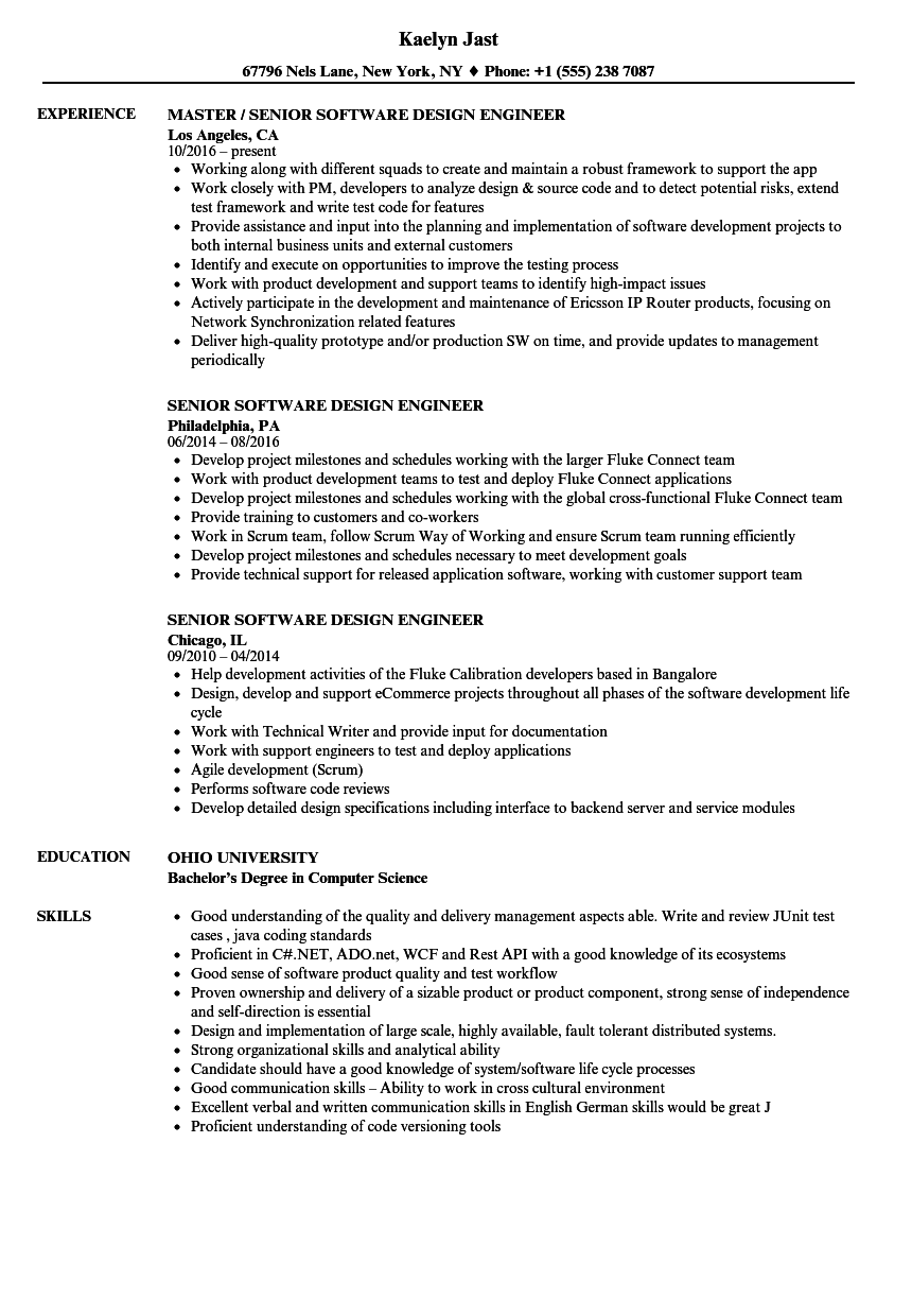 resume examples for verification engineer