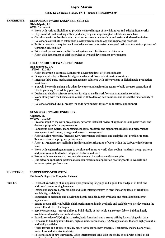 vsts sample resume