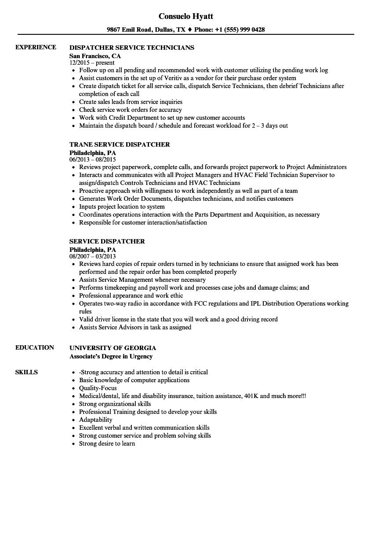 emergency dispatcher resume sample