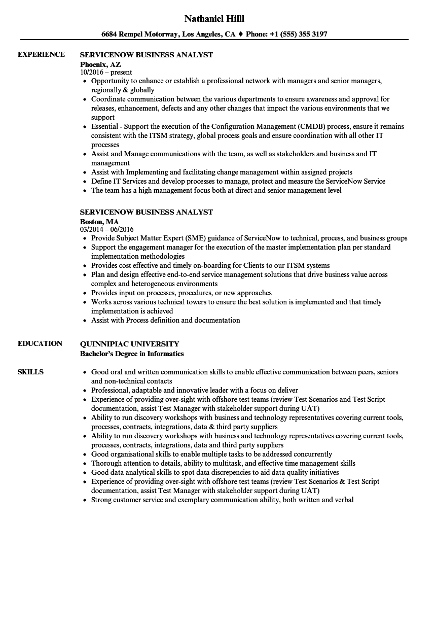 business analyst with stakeholders experience sample resume