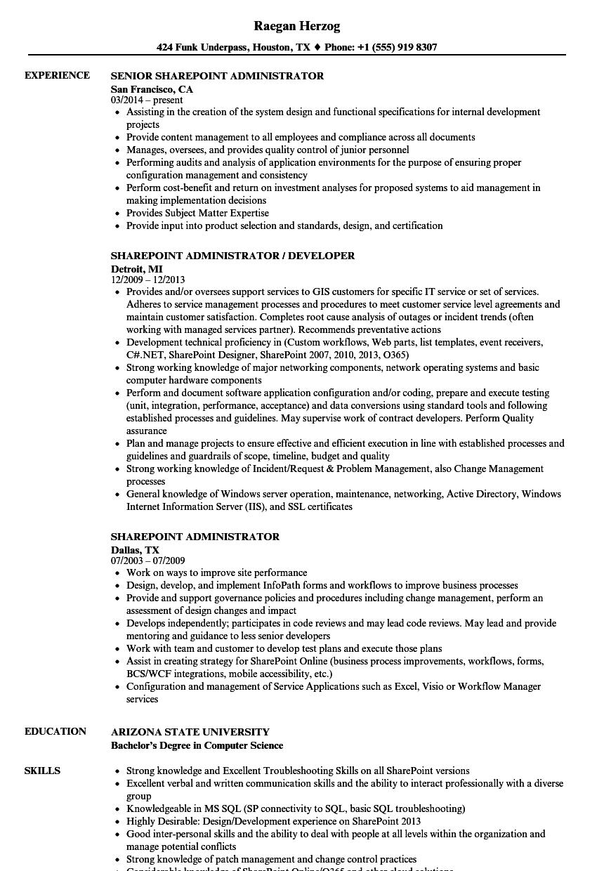 sample resume for powershell