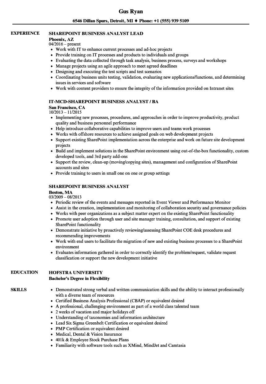 sample resume for staff services analyst