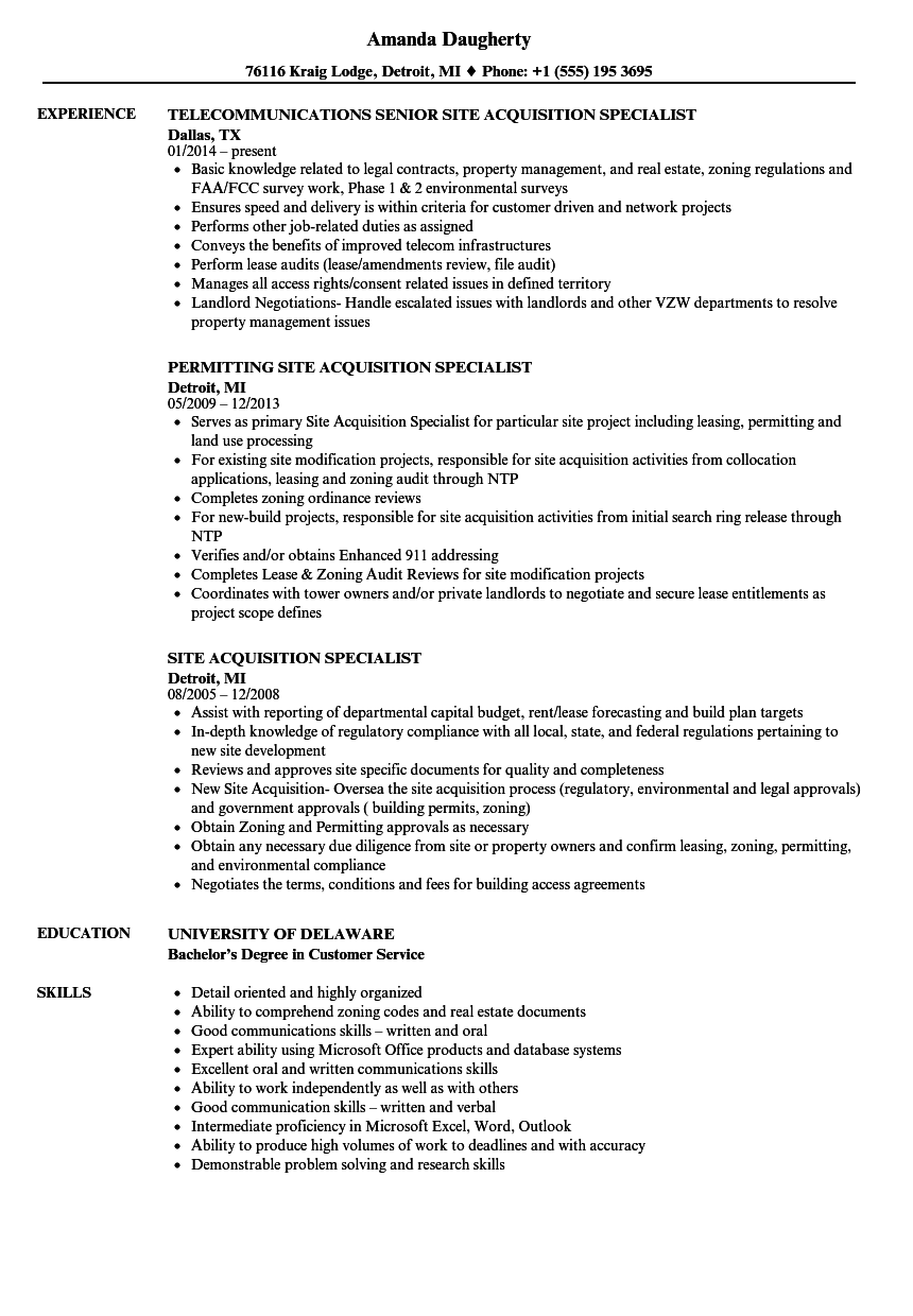 safety specialist resume sample