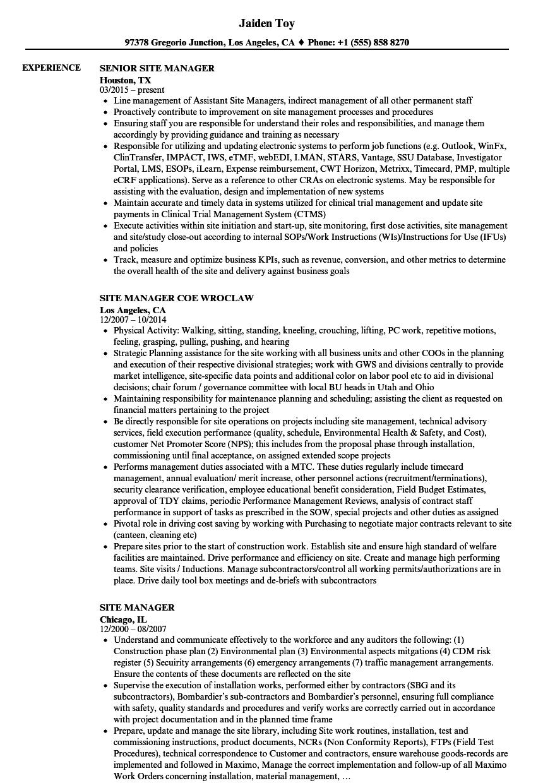 resume sample general manager
