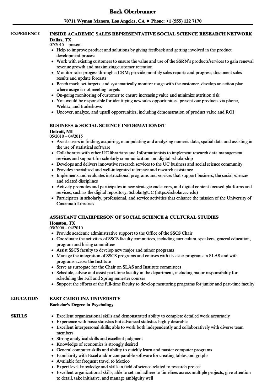 social services resume sample