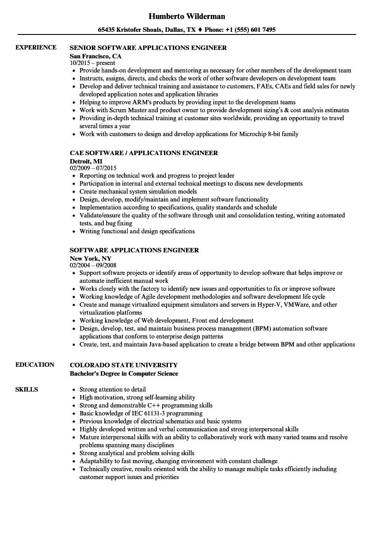 sample software engineer resume download