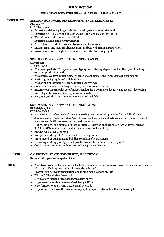 aws resume examples