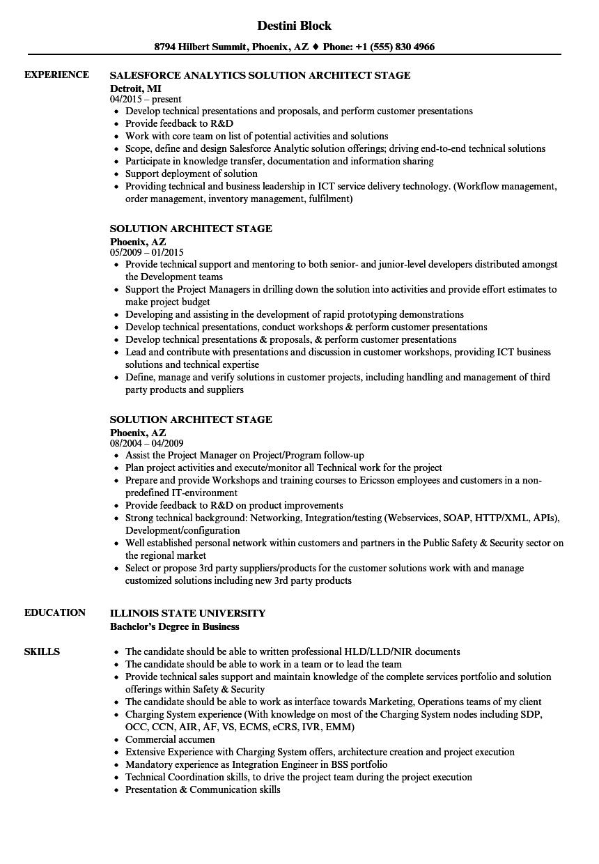 salesforce pre sales engineer resume sample