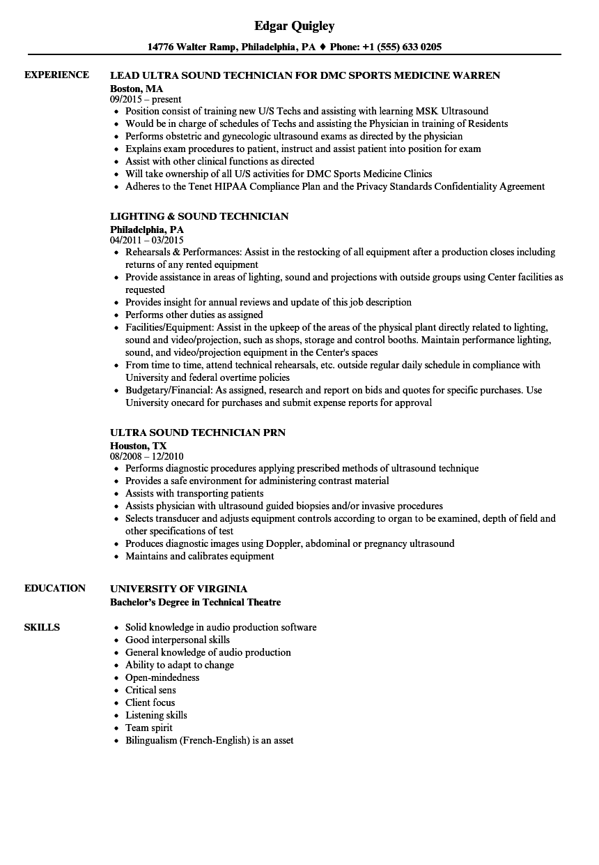 english cv lighting technician