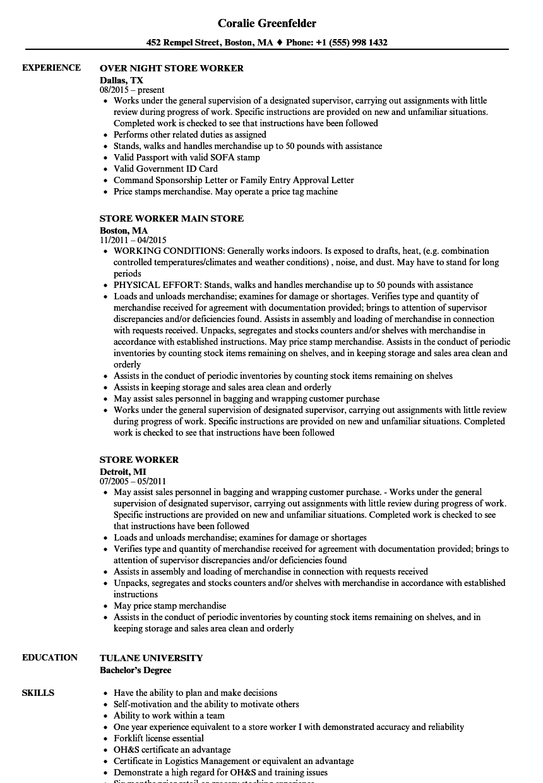 resume sample for support worker