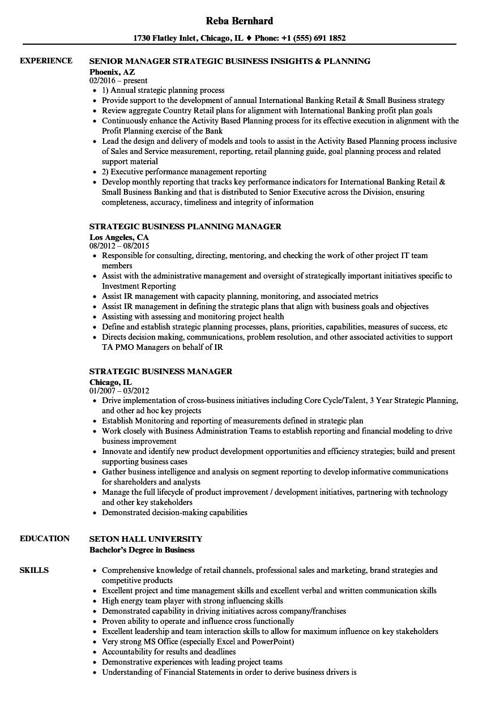 strategic alliance resume sample