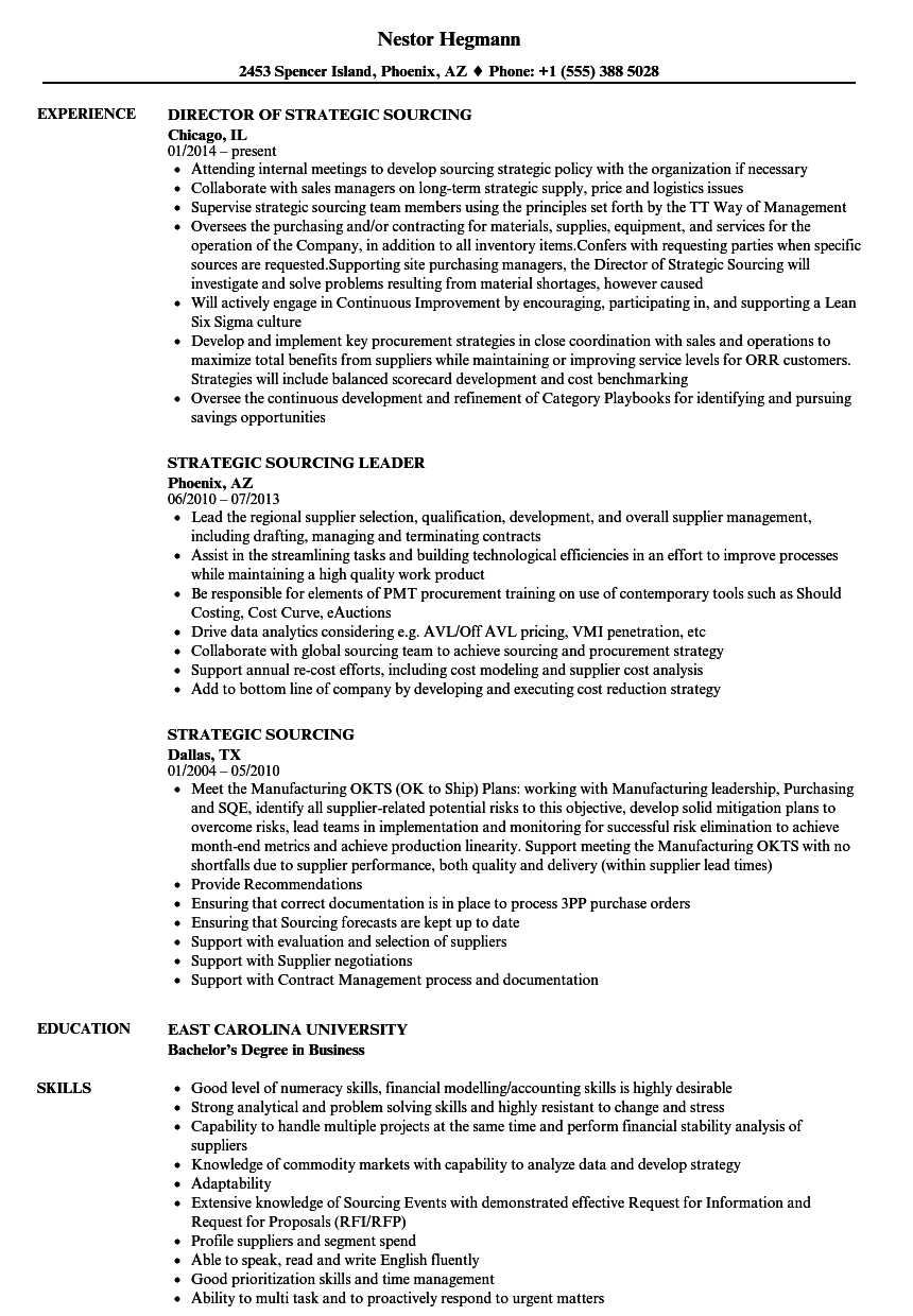 director of strategic planning resume examples