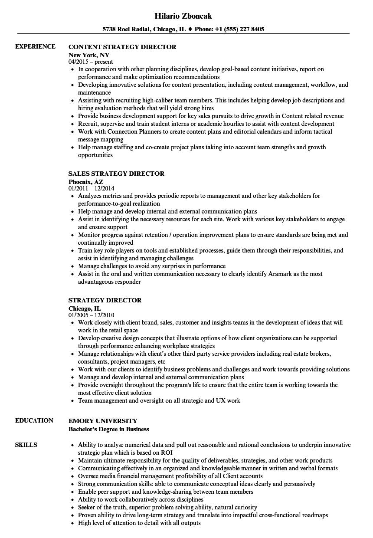 sample resume senior director of operations