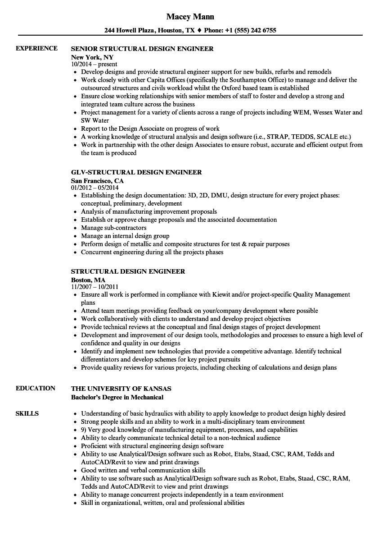 software design engineer resume sample