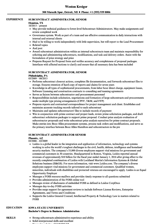 sample resume for licensing specialist for procurement