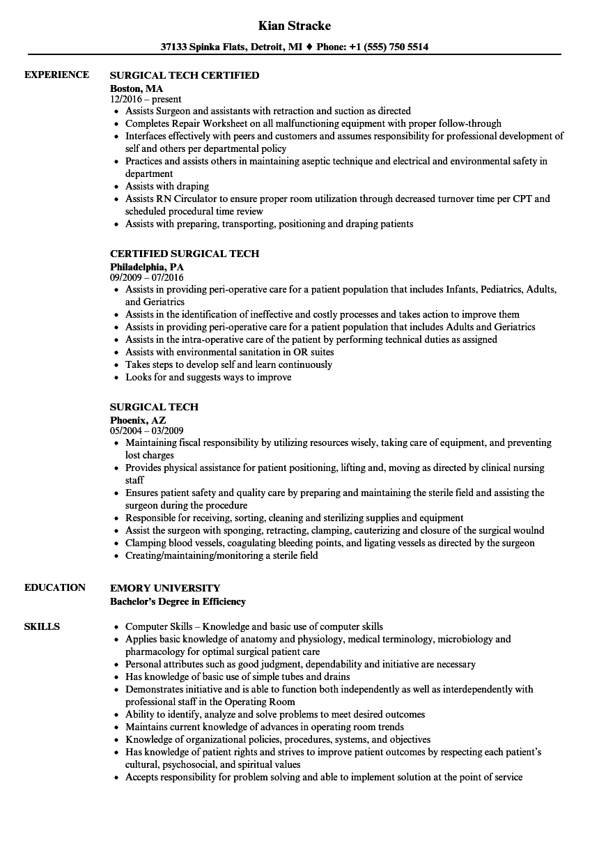 resume examples for externships