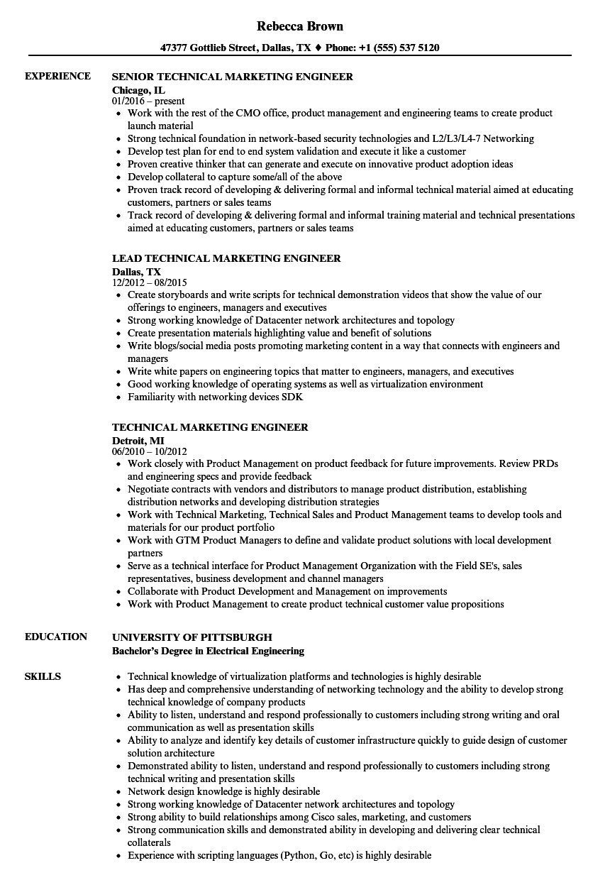 sample resume of sales and marketing