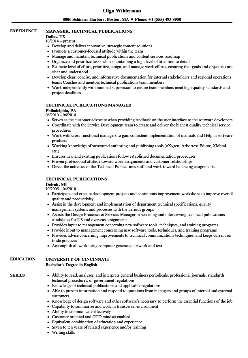 publication example resume