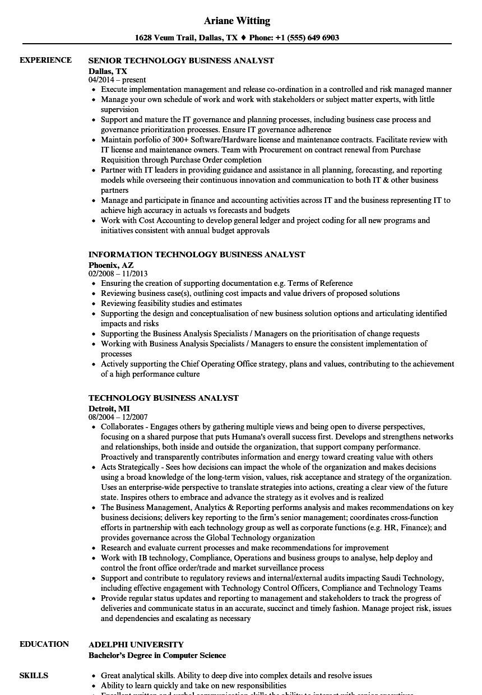 analyst resume samples