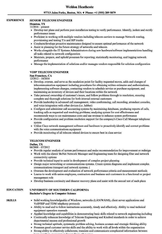 sample resume for avaya voice engineer